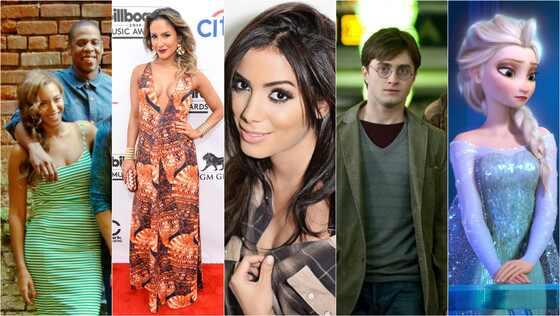 Beyonce, Jay Z, Claudia Leitte, Anitta, Harry Potter, Elsa