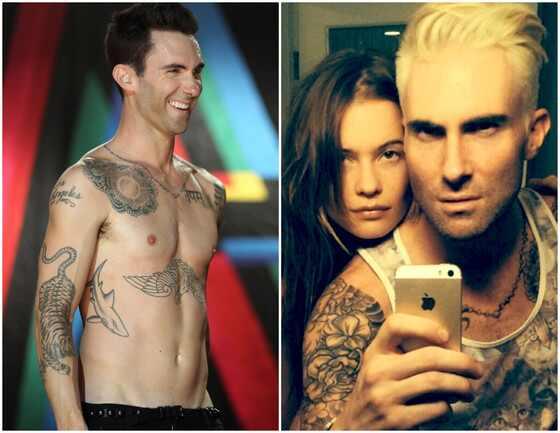 Adam Levine muda o visual e fica loiro