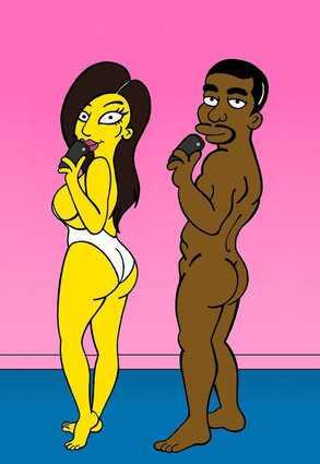 kim kardashian, simpsons