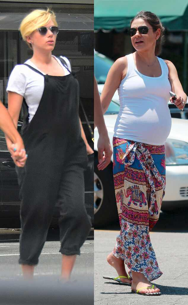 Pregnant Fashion Face-Off: Scarlett Johansson vs. Mila ...