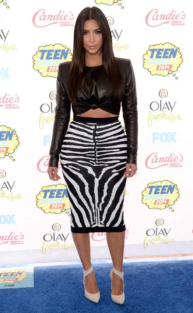 Kim Kardashian S Zebra Skin Skirt Gotta Have It Or Make
