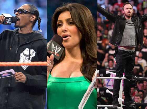 Aaron Paul, Snoop Dogg, Kim Kardashian, WWE Split