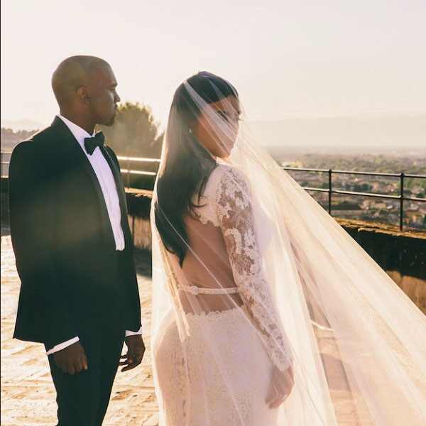 Kim K Wedding Gown: Kanye West's Anniversary Tweet To Kim Kardashian Is 1 Day
