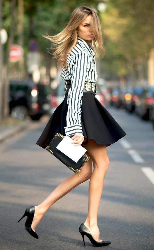 Erica Pelosini From Street Style Paris Fashion Week Spring 2015 E News