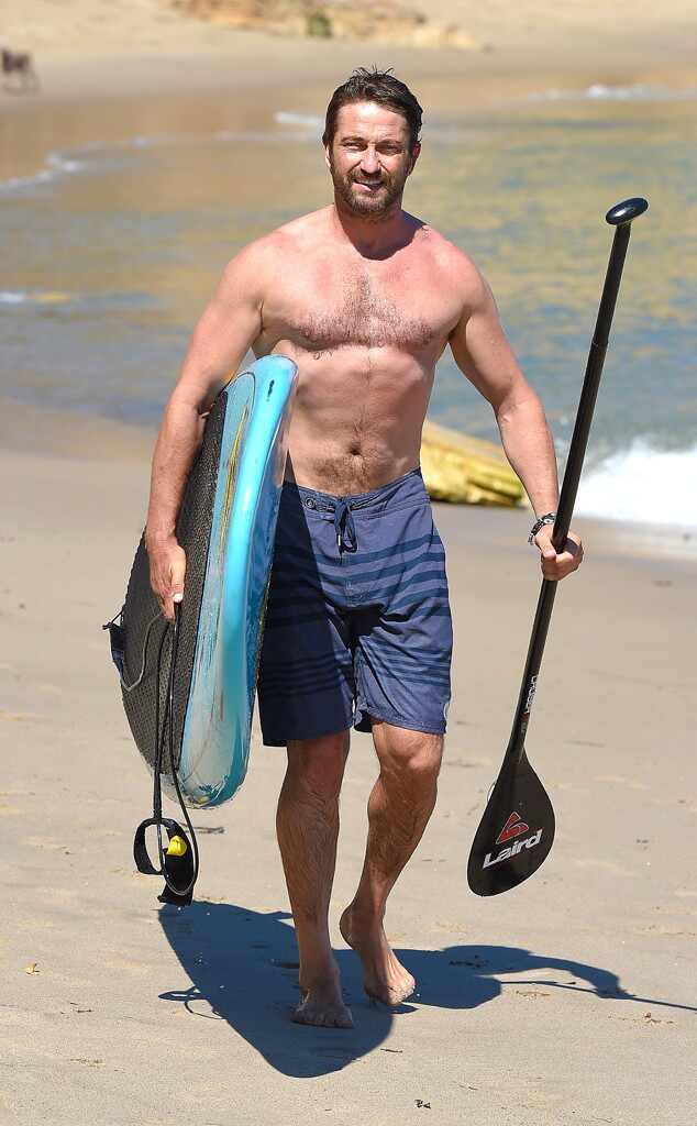 Shirtless Gerard Butler Can't Keep His Hands Off Mystery ...