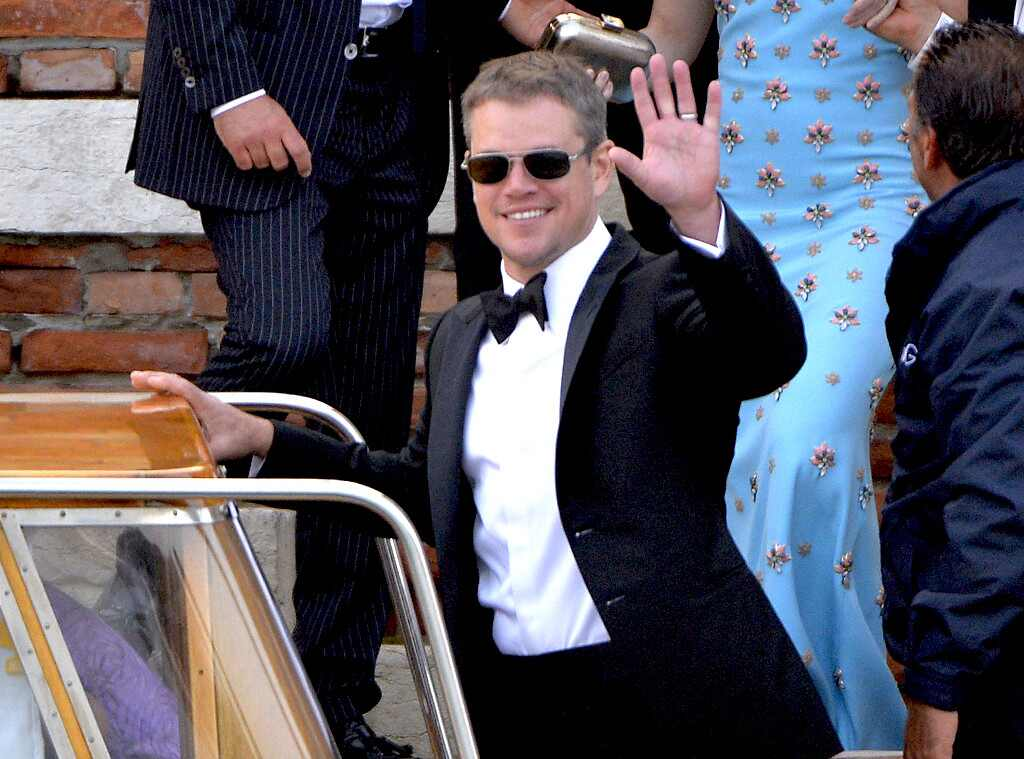 Matt Damon, Clooney Wedding