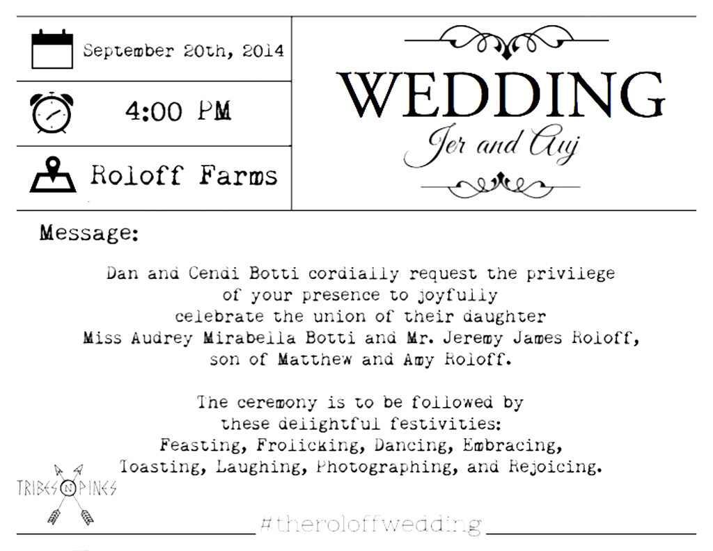 See Jeremy Roloff\'s Wedding Invitation! Little People, Big World ...