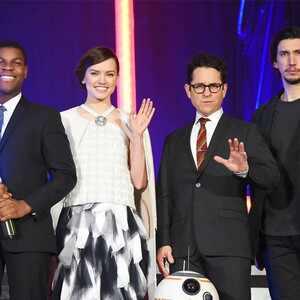 John Boyega, Daisy Ridley, J.J. Abrams, Adam Driver