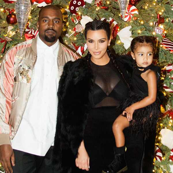 Kim Kardashian, North West, Kanye West, Christmas