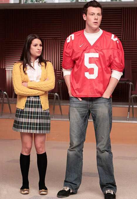 Lea Michele, Cory Monteith, Glee