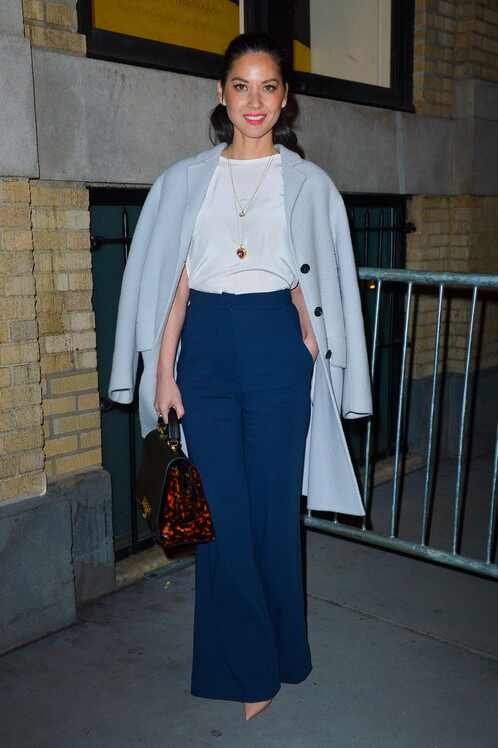 Wide-Leg Pants, Leather Dresses and Middle Part Updos Are ...