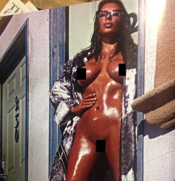 Kim Kardashian faz novo ensaio nu e provocante