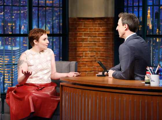 Lena Dunham, Pixie Cut, Late Night With Seth Meyers
