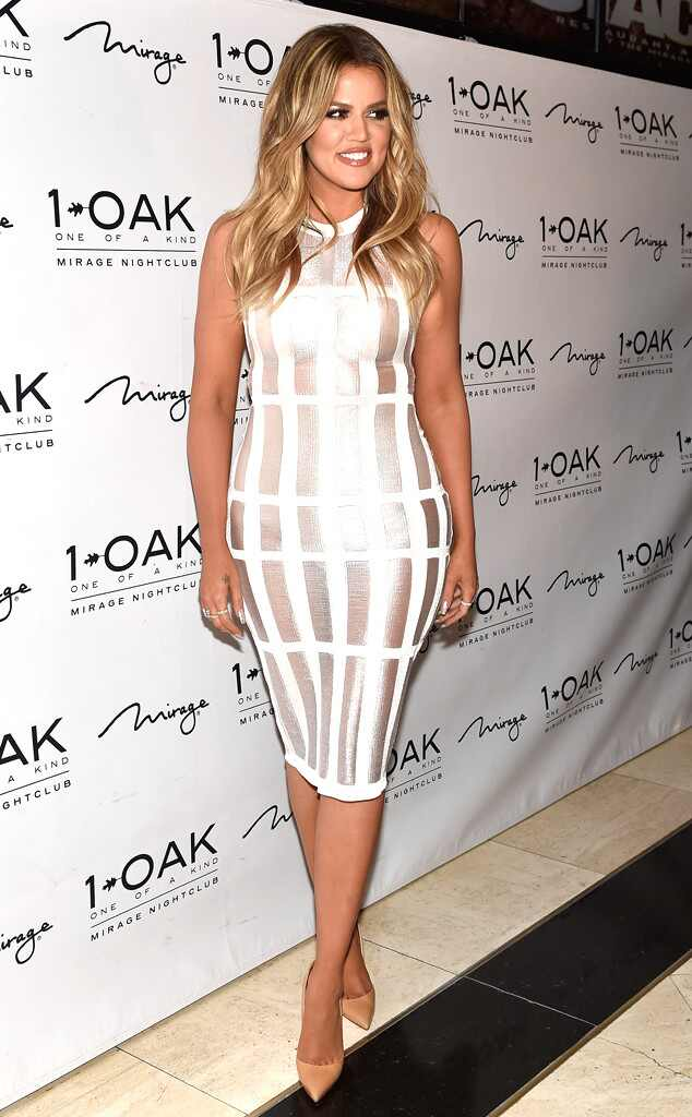 Khloe kardashian white dress
