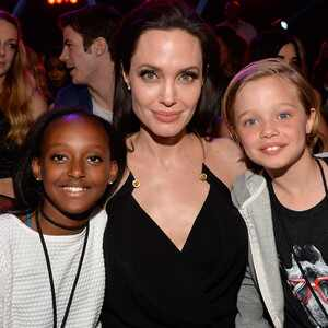 Angelina Jolie, Zahara Jolie-Pitt, Shiloh Nouvel Jolie-Pitt, Kids' Choice Awards