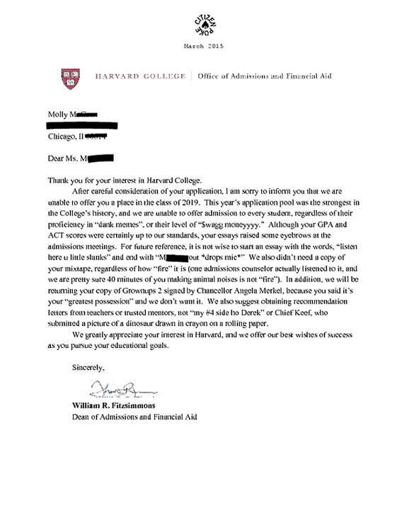 harvard recommendation essays