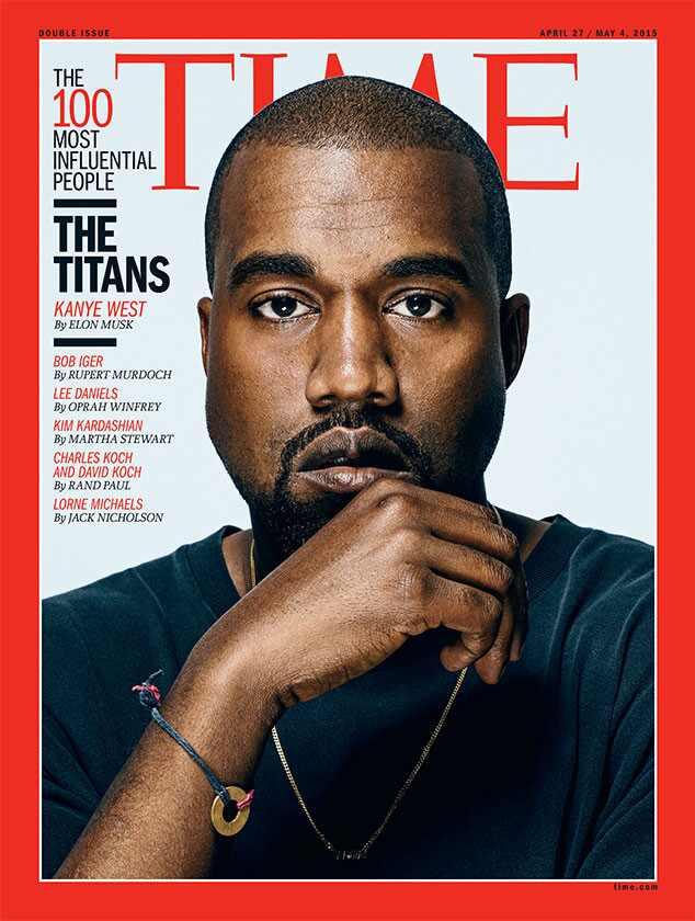 Awesome Kanye West E Kim Kardashian Aparecem Entre As 100 Pessoas Mais Hairstyles For Men Maxibearus