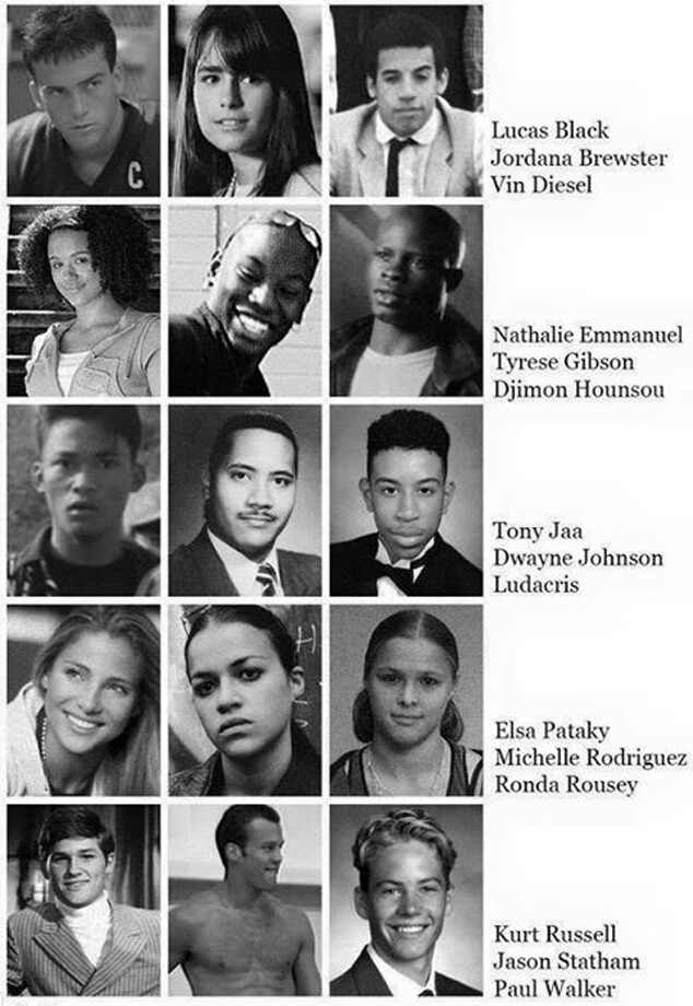 Imagine If the Cast of Furious 7 Went to High School ...