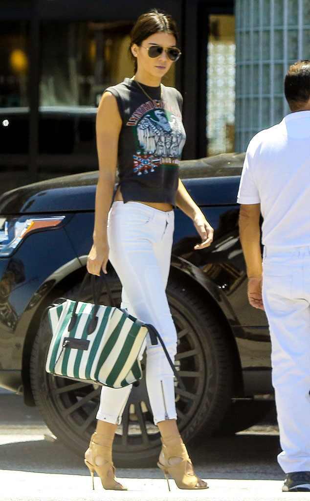Rocker Chic From Kendall Jenner 39 S Street Style E News