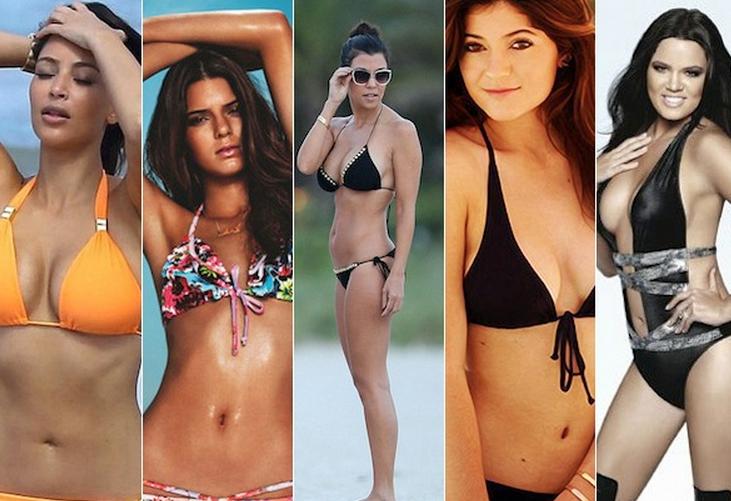 As melhores fotos das Kardashians e das Jenners de biquíni