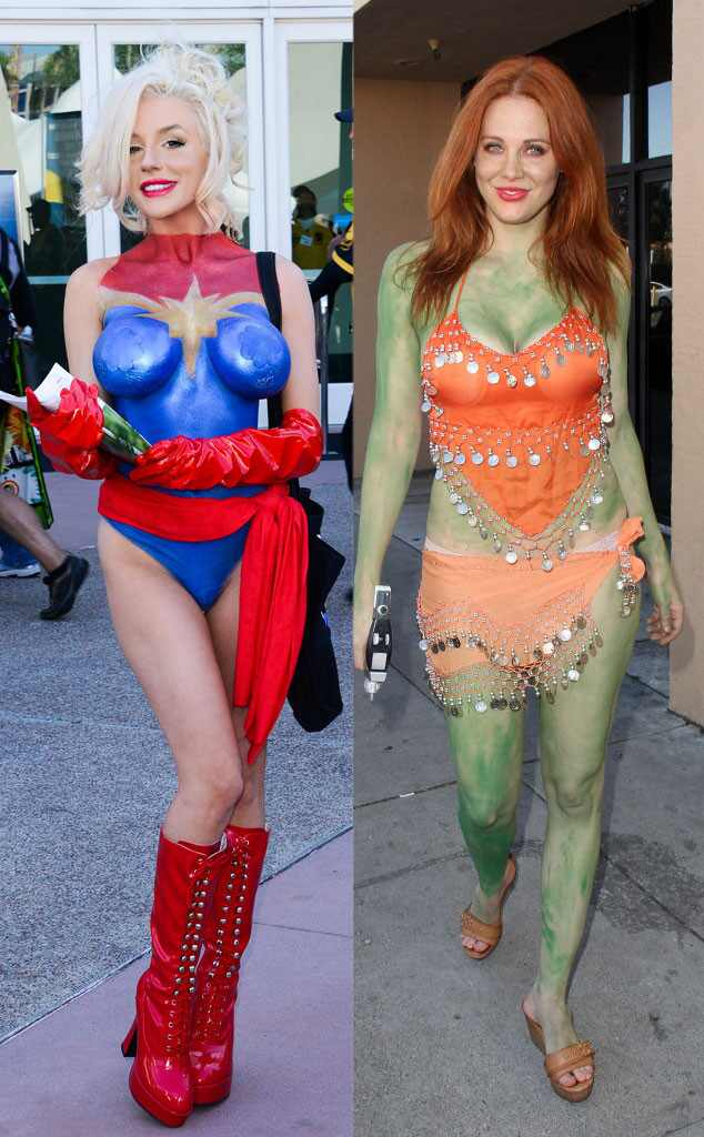 courtney stodden and maitland ward compete for most ForComic Con Body Paint