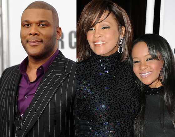 Tyler Perry, Whitney Houston, Bobbi Kristina