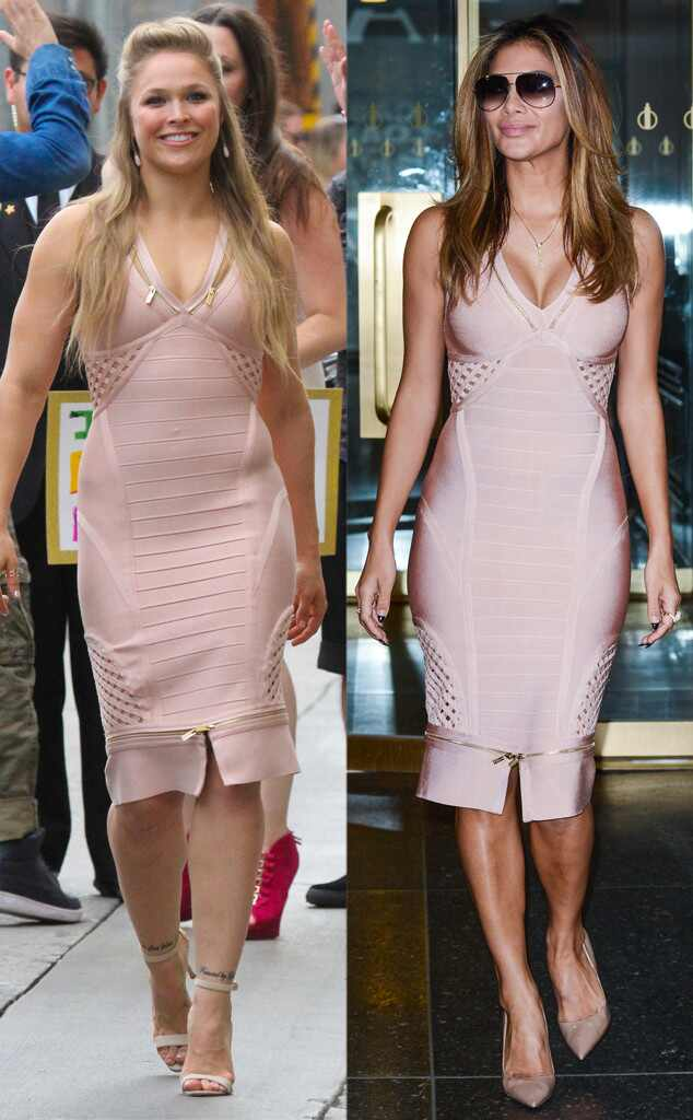 Ronda Rousey Stuns In Skin Tight Bandage Dress And Nicole