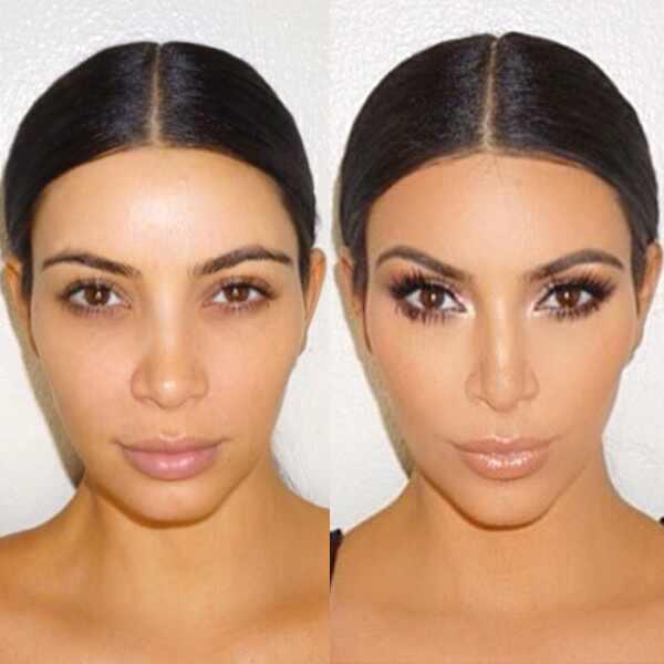 Kim Kardashian, Instagram, Makeup