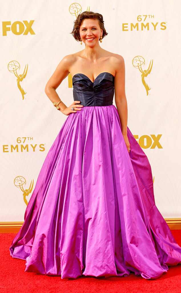 2015 Emmys: Red Carpet Arrivals Maggie Gyllenhaal, Emmy Awards 2015