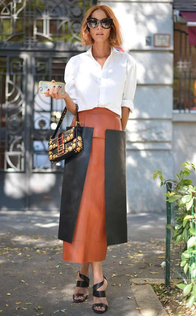 Candela Novembre From Street Style At Milan Fashion Week Spring 2016 E News Uk