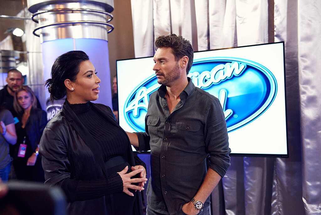 Kim Kardashian, Ryan Seacrest, American Idol Auditions
