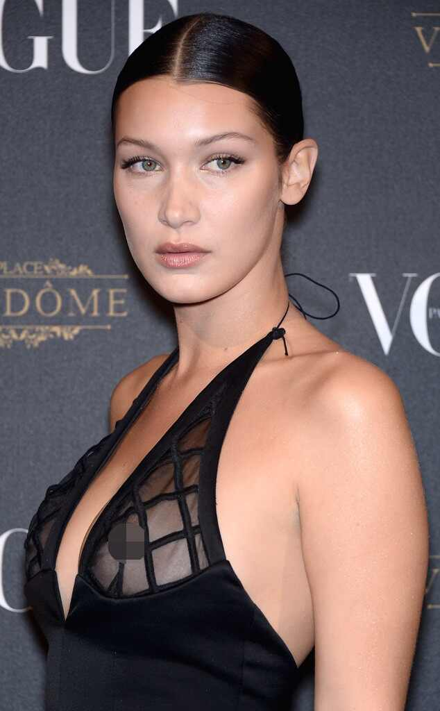 Bella Hadid From Celebrities With Nipple Piercings E News
