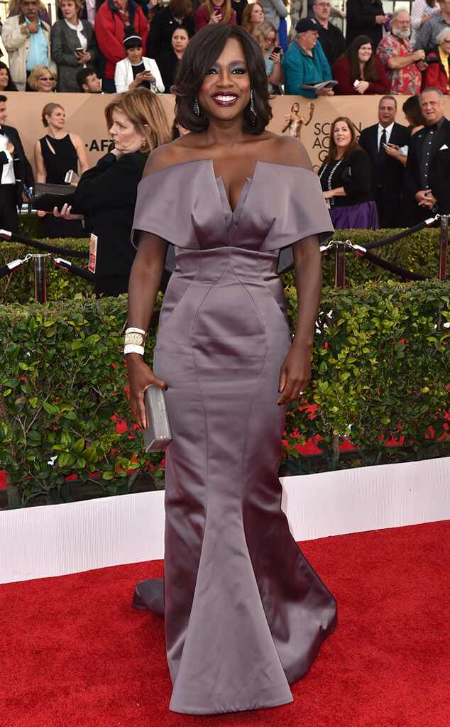 SAG Awards 2016: Red Carpet Arrivals Viola Davis, SAG Awards 2016, Arrivals