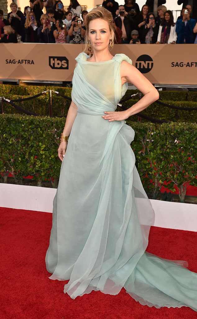 SAG Awards 2016: Red Carpet Arrivals January Jones, SAG Awards 2016, Arrivals