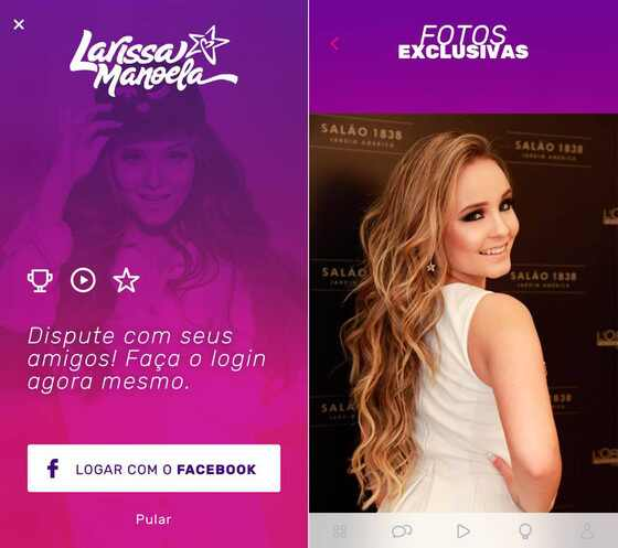 Larissa Manoela, aplicativo
