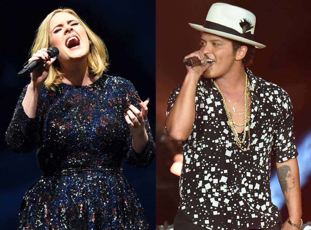 Adele, Bruno Mars