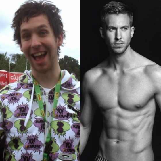 Calvin Harris, antes e depois