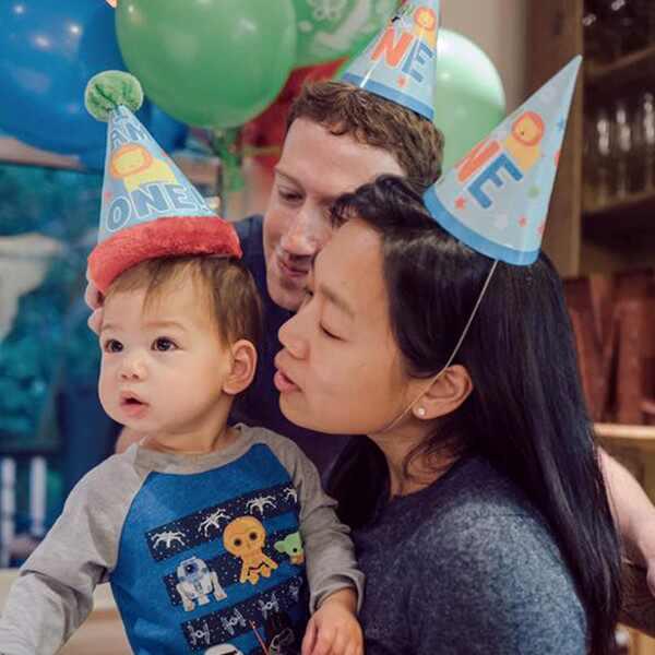 Zuckerberg, Precilia and daughter Max