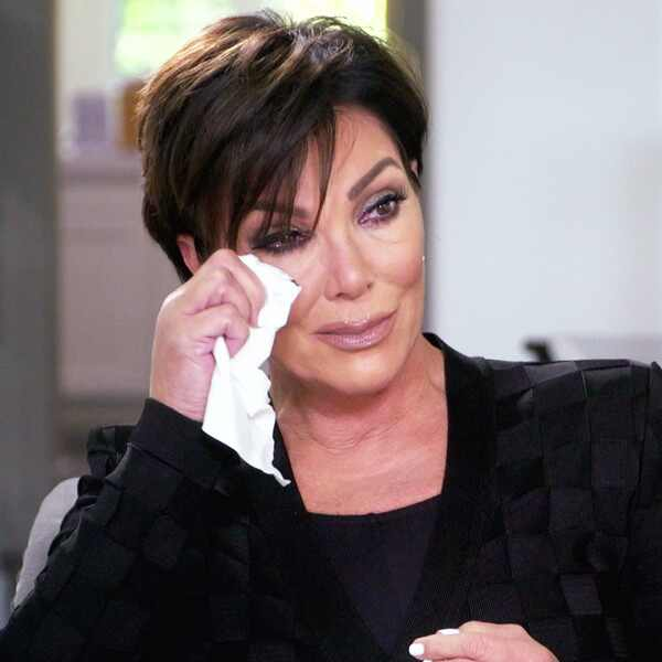 kris jenner cries walks out of interview after being