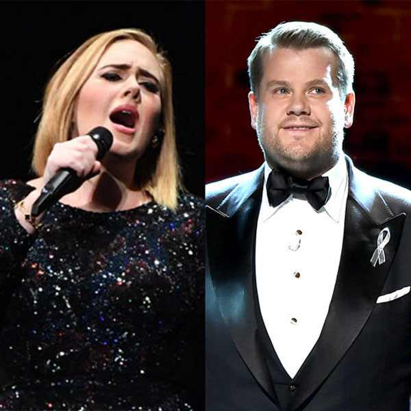 adele and james corden relationship test