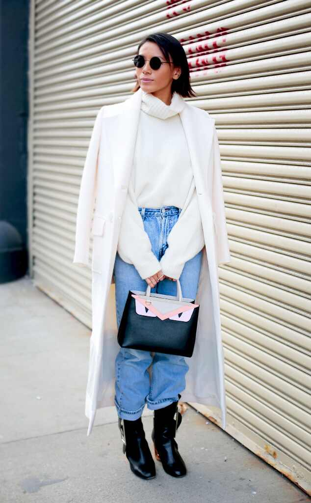 Snow White From Street Style At New York Fashion Week Fall 2016 E News