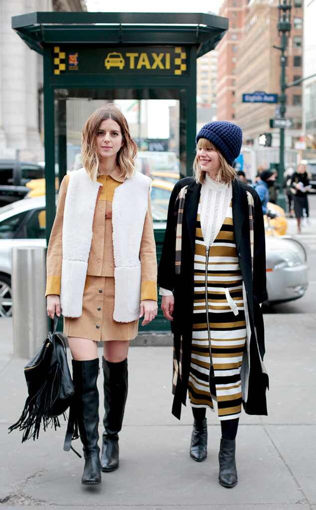Double Trouble From Street Style At New York Fashion Week Fall 2016 E News