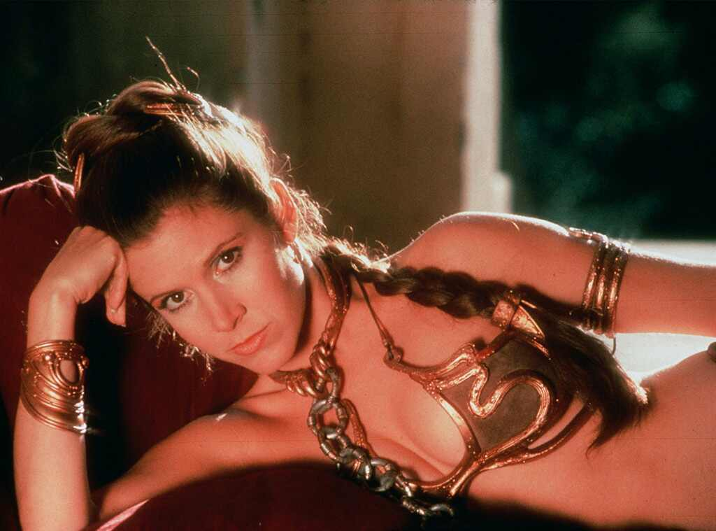 Pity, carrie fisher princess leia slave have