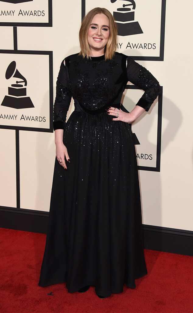 Grammys 2016: Red Carpet Arrivals Adele, 2016 Grammy Awards