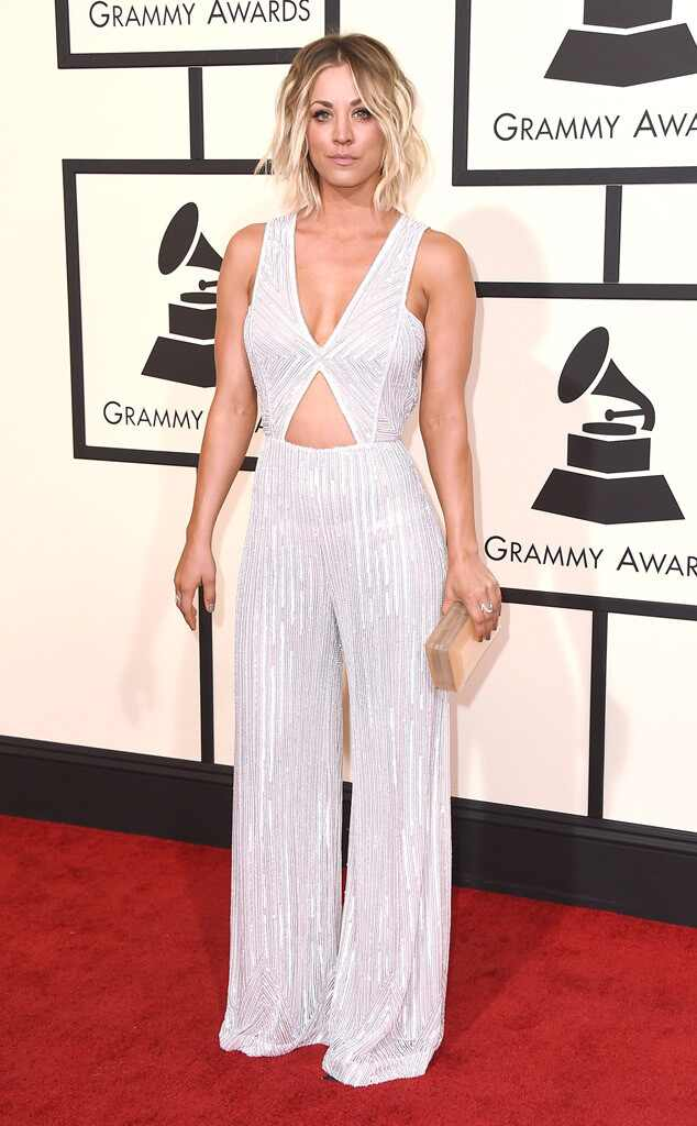 Grammys 2016: Red Carpet Arrivals Kaley Cuoco, 2016 Grammy Awards