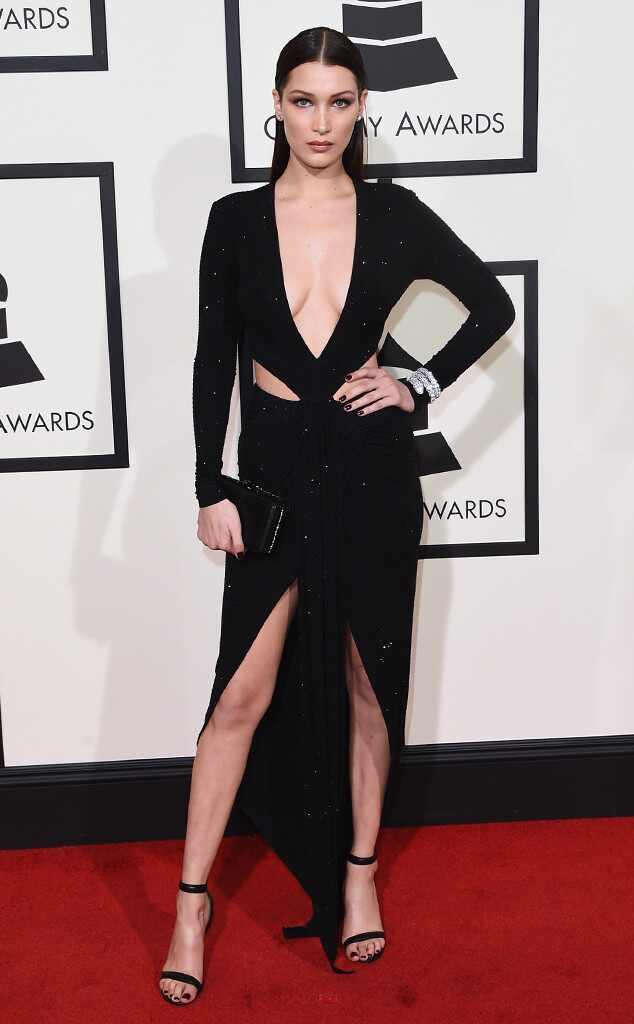 Grammys 2016: Red Carpet Arrivals Bella Hadid, 2016 Grammy Awards