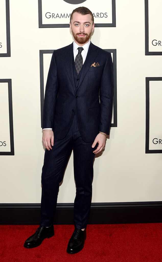 Grammys 2016: Red Carpet Arrivals Sam Smith, 2016 Grammy Awards