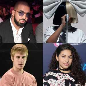 Drake, Justin Bieber, Sia, Alessia Cara