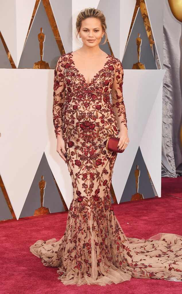 Oscars 2016: Red Carpet Arrivals Chrissy Teigen, 2016 Oscars, Academy Awards, Arrivals
