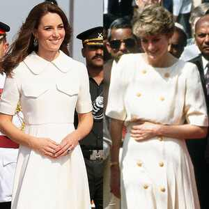 Kate Middleton, Princess Diana, India Fashion Comparison